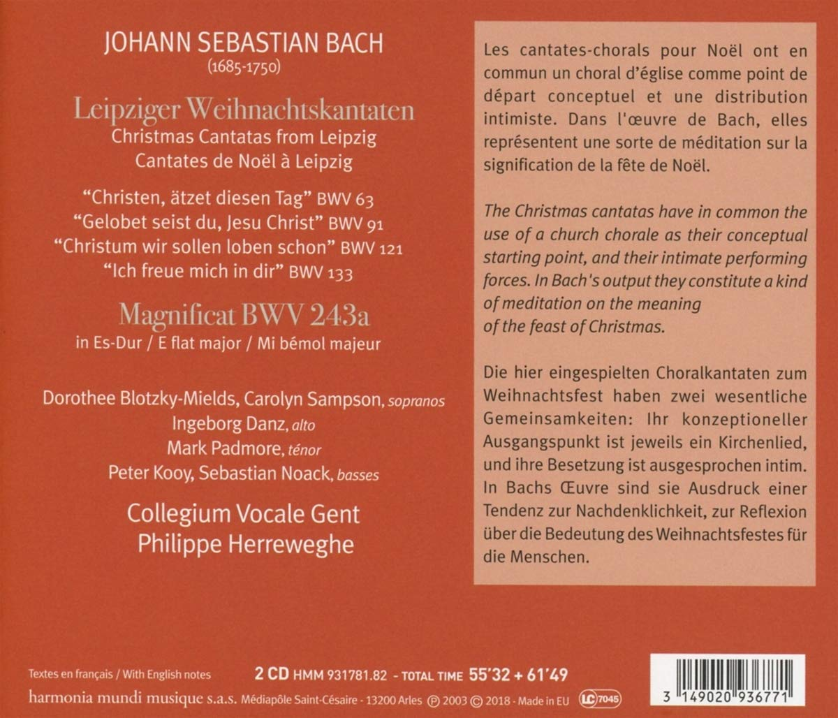 Cantata BWV 91 - Details & Discography Part 1: Complete Recordings